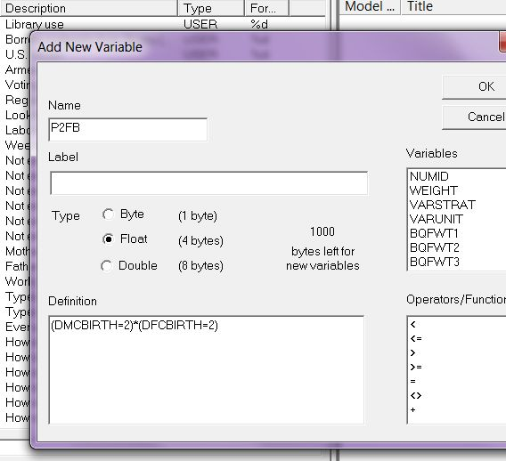 AM naal create variables