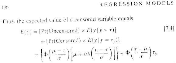 Regression Models for Categorical and Limited Dependent Variables (Long 1997) formula 7.4 p 196