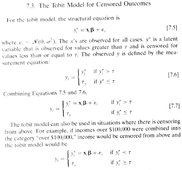 Regression Models for Categorical and Limited Dependent Variables (Long 1997) formula 7.5-7.7 p 196